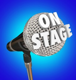 On Stage Microphone Word Concert Performance Singer Comedian
